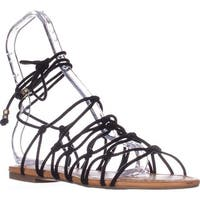 I35 Gallena Flat Lace-up Sandals, Black - 8.5 us
