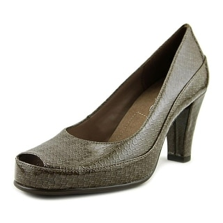 A2 By Aerosoles Big Ben Women W Peep-Toe Synthetic Gray Heels