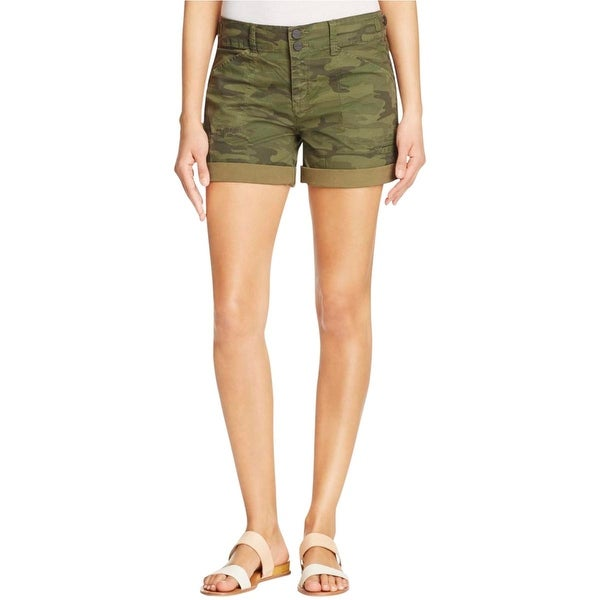 Sanctuary Womens Casual Shorts Camoflage Classic Rise