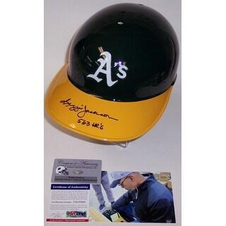 Reggie Jackson Autographed Hand Signed Oakland A's Authentic Batting Helmet  PSADNA