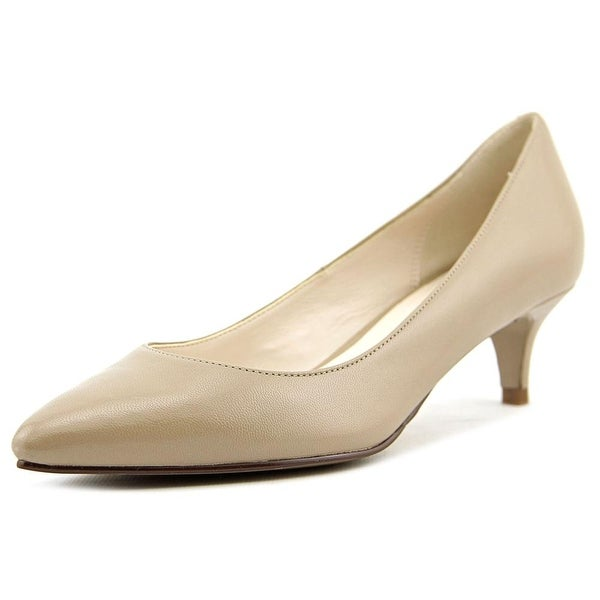 Cole Haan Juliana Pump .45 Women Pointed Toe Patent Leather Nude Heels