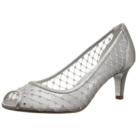 Adrianna Papell Womens jamie Fabric Peep Toe Classic Pumps