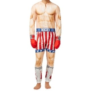 Briefly Stated NEW Beige Mens Size Small S Rocky Balboa Pajama Suit