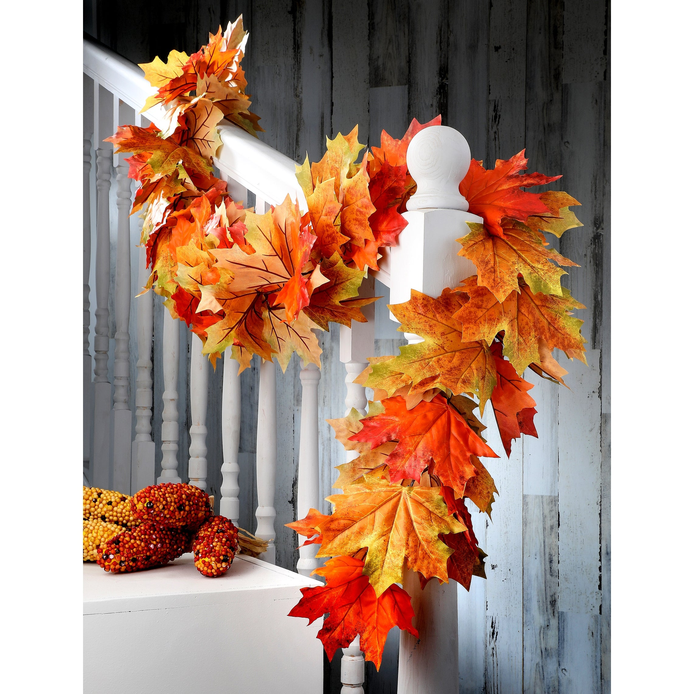 64 Harvest Maple Leaf Garland 64 Inches Overstock 31442473