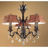 """Classic Lighting 57363-AGB 27"""" Crystal Chandelier from the Majestic Collection"""