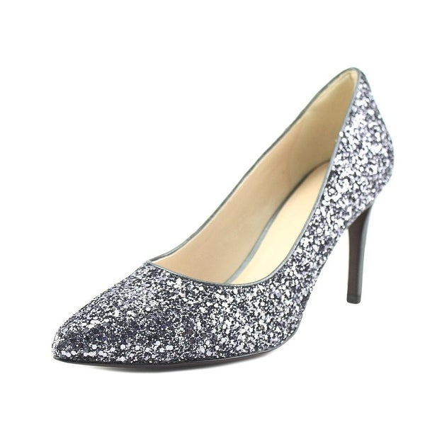 Cole Haan Amela Grand PMP Women Pointed Toe Synthetic Silver Heels