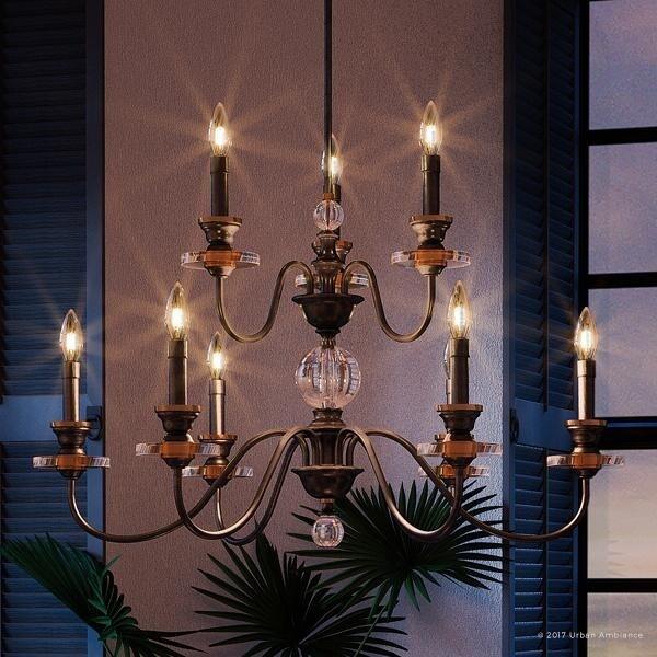 """Shop Luxury Mediterannean Chandelier, 20.25""""H X 32""""W, With"""