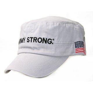 Army Strong Cadet USA Flag On Side Hat, Gray