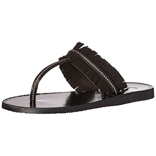 Joie Womens Maisie Flat Sandals Leather Thong - 35.5 medium (b,m)