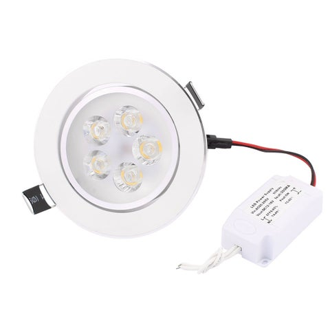 Down Light Round Ceiling Lamp White LED 5W AC 90~265V w LED Power Supply