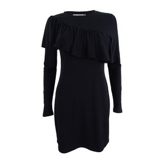 Michael Kors Women's Petite Asymmetrical-Ruffle Sheath Dress
