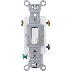 Leviton Wht 3-Way Grnd Switch