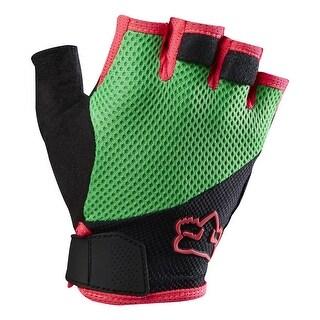 Fox Racing 2016 Men's Reflex Gel Short Finger MTB & BMX Cycling Gloves - 13224 - flo yellow