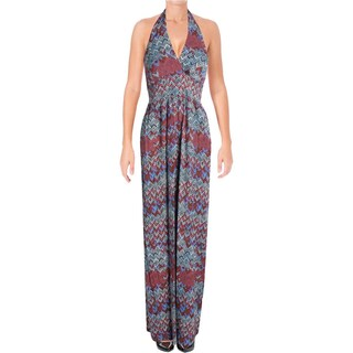 Ella Moss Womens Maxi Dress Halter Printed - l