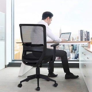 VECELO Home Office Chairs Ergonomic Adjustable Swivel Chairs for Task/Desk Work