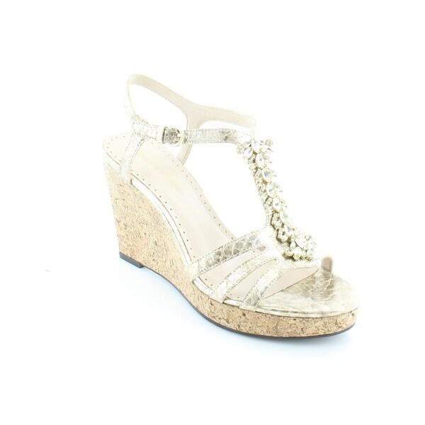 Adrienne Vittadini Canis Women's Sandals & Flip Flops Golden