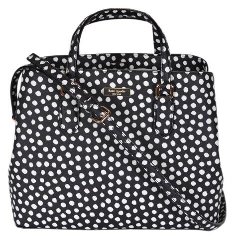 "Kate Spade Musical Dot Laurel Way Medium Evangelie Handbag Purse - 12"" x 9.5"" x 5.5"""