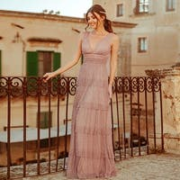 Ever-Pretty Womens Tiered Long Evening Bridesmaid Prom Party Maxi Dress 07766