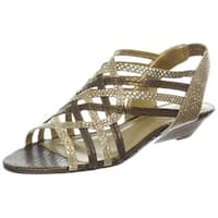 Circa Joan & David Womens Qasima Leather Open Toe Casual Platform Sandals