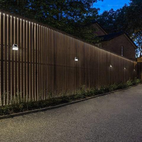 6 Pack Solar Dusk-to-Dawn LED Fence Light