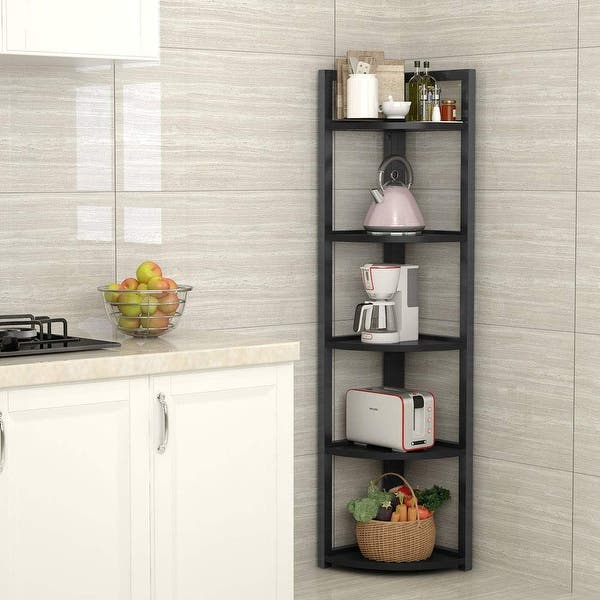 Shop 5-tier Corner Shelf, Corner Storage Rack Plant Stand ...