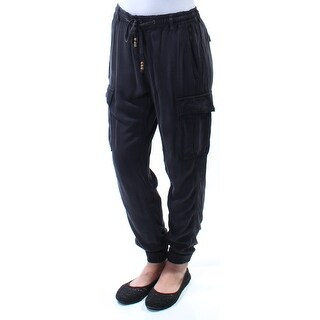 RALPH LAUREN D & S $125 Womens New 2867 Black Pocketed Tie Lounge Pants 2XS B+B