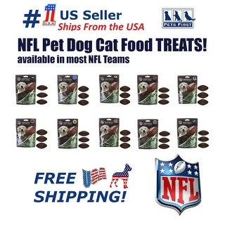 NFL Dog Treats, Delicious Football Shaped Cookies Dog Rewards NATURAL Dental Pet