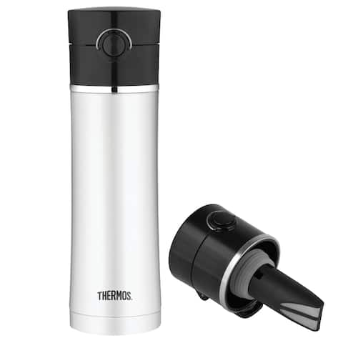 Thermos 16oz ss insulated drink bottle w/ tea infusor ns403bk4