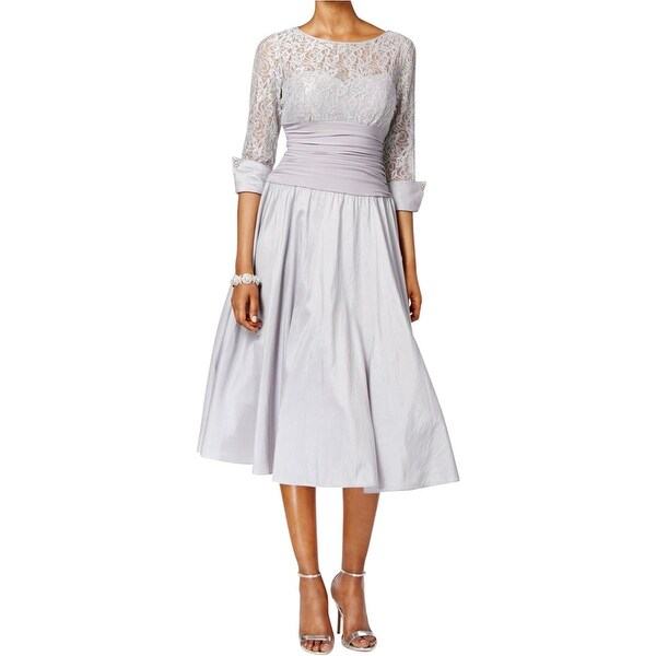 d6ef4ae8ceb Shop Jessica Howard Womens Mother of the Bride Dress Crinkled Lace Inset -  Free Shipping Today - Overstock - 16052252