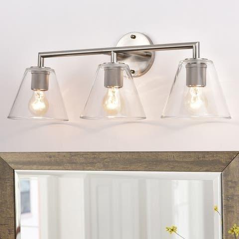 Clear Glass 3-light Vanity Light Fixture