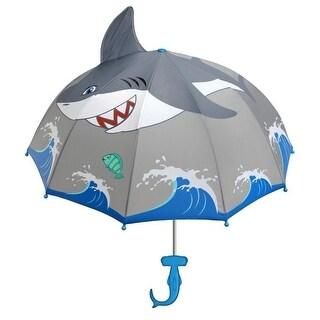 Boys Grey Child Size Lightweight Shark Umbrella