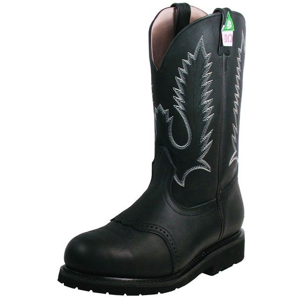 Boulet Work Boots Mens Leather Steel Toe Vibram Everest Black