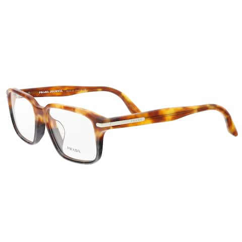 Prada PR 09TVF UFN1O1 Light Havana/Spotted Grey Square Opticals - 55-17-140