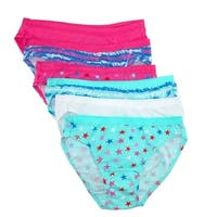 Fruit of the Loom Girl's Cotton Bikini Underwear (Pack of 6)