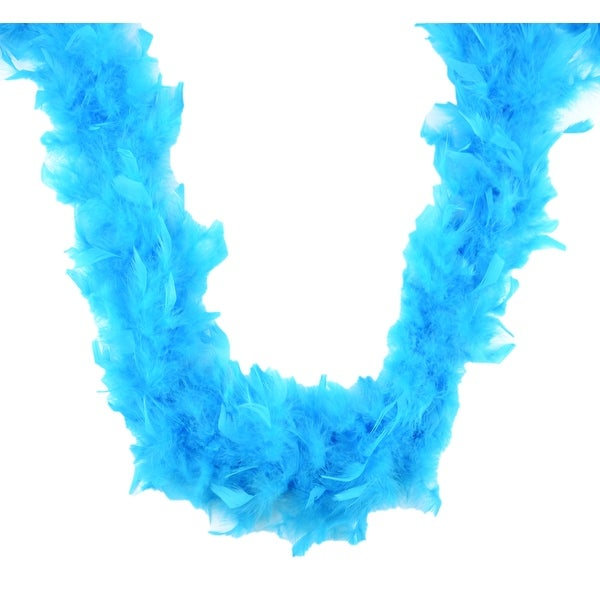 Pack of 3 Turquoise Blue Embellished Fluffy Party Boas - 2 Yards