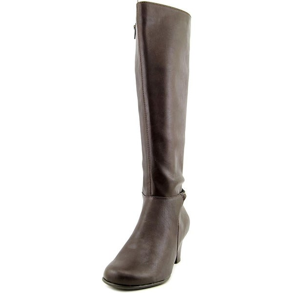 Aerosoles Margarita Women W Round Toe Synthetic Brown Knee High Boot