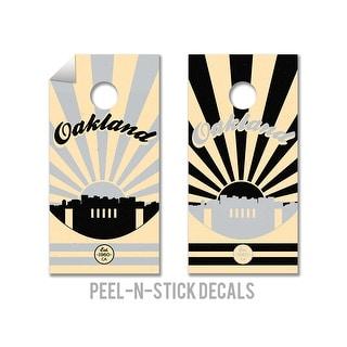 Oakland Raiders Cornhole Board Decals