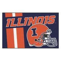 NCAA University of Illinois Fighting Illini Starter Mat Rectangular Area Rug