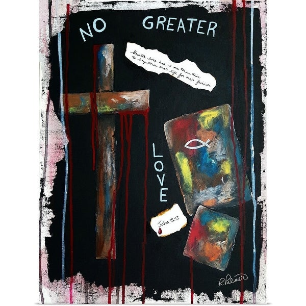 """""""No Greater Love"""" Poster Print"""