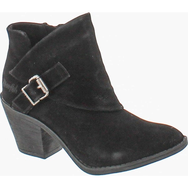 Blowfish Women's Suba Ankle Bootie - black fawn pu
