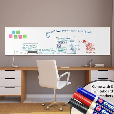 Walplus Whiteboard Wall Sticker 79 inches Peel Stick Decal Home Decor with Marker