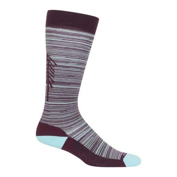 8bf1a67dc0 Shop Icebreaker Women's Lifestyle Light OTC Tree Line Crew Sock Velvet/Dew  - Free Shipping On Orders Over $45 - Overstock - 25668323