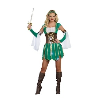 Sexy Medieval Warrior Elf Costume Dress Adult
