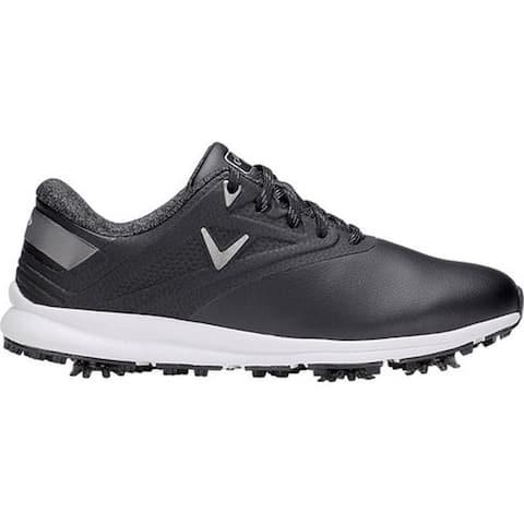 Callaway Women's Coronado Waterproof Golf Spike Black Microfiber Leather