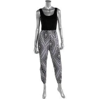 Stoosh Womens Printed Sleeveless Jumpsuit - M