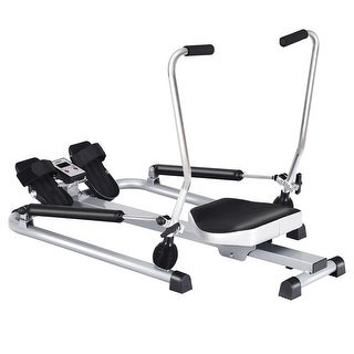 Gymax Exercise Rowing Machine Rower w/Adjustable Double Hydraulic Resistance Home Gym - as pic