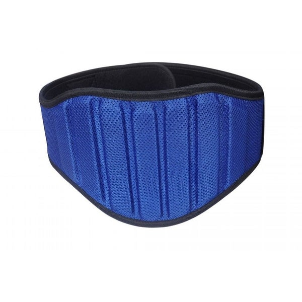 L//XL Weight Lifting Belt Gym Fitness 8 inch Wide Back Supports Neoprene BLUE