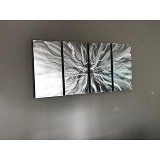 Shop Statements2000 Modern 3D Metal Wall Art Silver Sculpture Panels