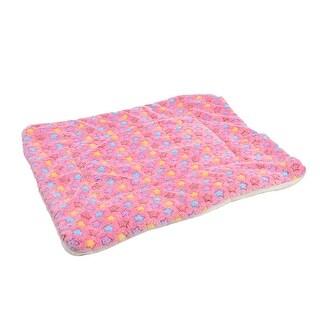 Pet Flannel Star Print Doggy Cushion Soft Warm Sleep Mat Dog Blanket Colorful L
