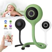 Wireless Wifi Baby Temperature Monitor 2 Way Audio IR Night Camera Music Player (Lollipop), color Black